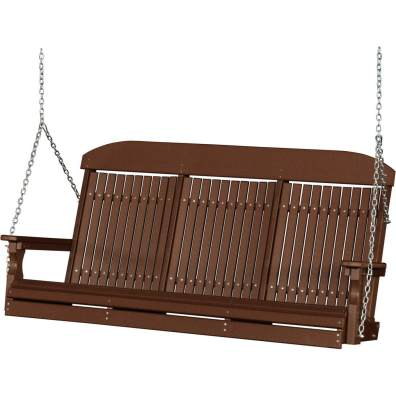 LuxCraft Poly 5' Classic Swing Chestnut Brown
