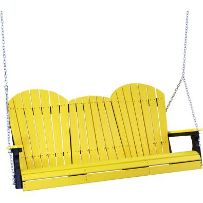 LuxCraft Poly 5' Adirondack Swing Yellow & Black
