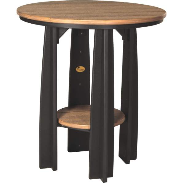PBATAMB Poly Balcony Table (Antique Mahogany & Black)