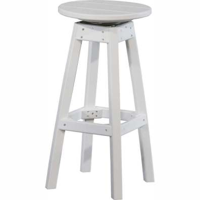 LuxCraft Poly Swivel Bar Stool White