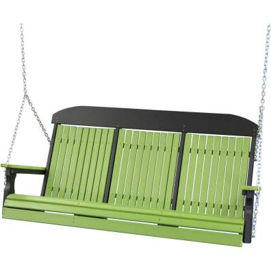 LuxCraft Poly 5' Classic Swing Lime Green & Black