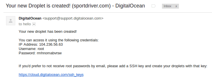 Your new Droplet is created! (sportdriver.com) - DigitalOcean - bipulbd08@gmail.com - Gmail 2014-11-02 06-32-56