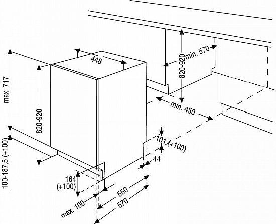 BEKO Einbau Spülmaschine 45cm Geschirrspüler