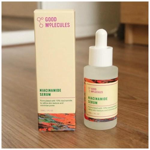 good molecules skincare review swatch niacinamide serum exfoliator