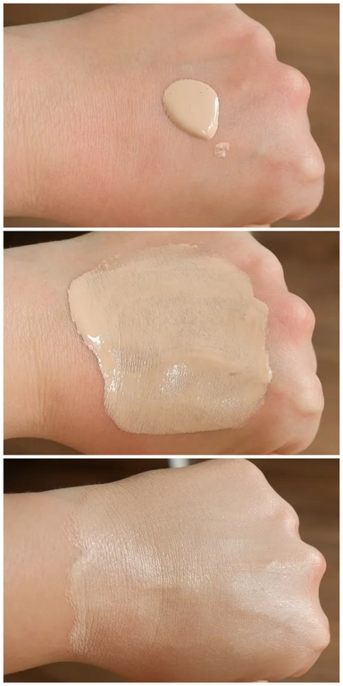 anastasia beverly hills luminous foundation hydrating 130 N fair skin review swatch makeup look dry skin