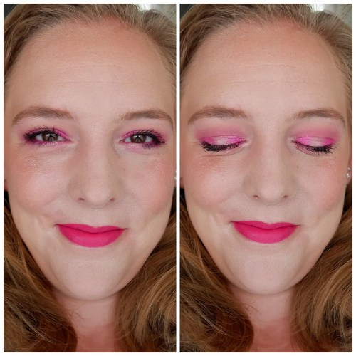 bh cosmetics fairy lights eyeshadow palette limited edition holiday review swatch makeup look 4 looks 1 palette fair skin