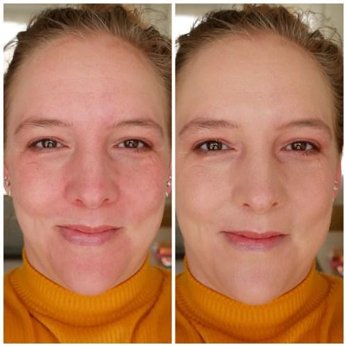 catrice clean id high cover luminous matt foundation sensitive skin 004 light almond vegan dry skin fair skin review swatch makeup look application