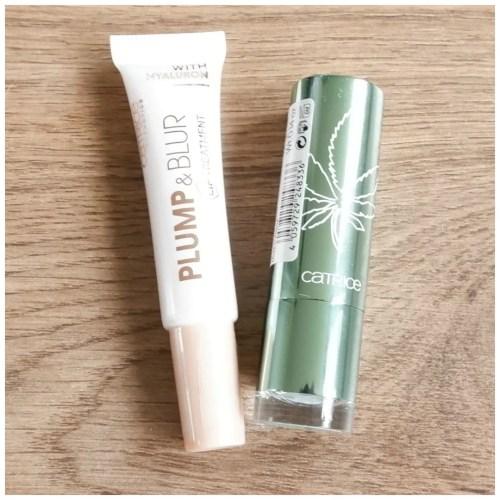 catrice plump & blur lip treatment hemp & mint glow lip balm review swatch makeup look