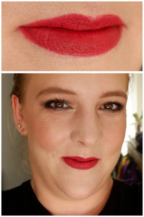 Catrice Demi Matt lipstick 110 REDefine Love review swatch makeup look lipswatch fair skin