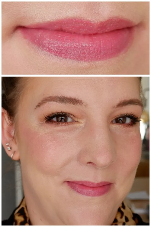 catrice watermelon shine glow lip balm review swatch application makeup look fair skin