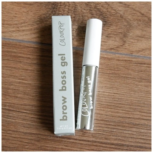 colourpop brow boss brow gel review blonde swatch makeup look application