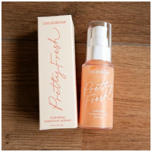 colourpop pretty fresh primer review swatch makeup look fair skin dry skin