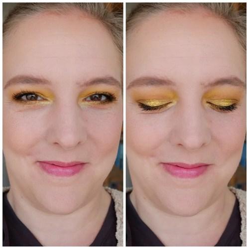 colourpop uh huh honey eyeshadow palette review swatch fair skin makeup look