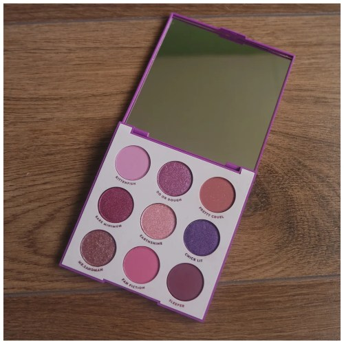 colourpop it's my pleasure eyeshadow palette review swatch makeup look application fair skin