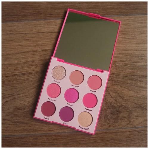colourpop ooh la la eyeshadow palette review swatch makeup look application fair skin
