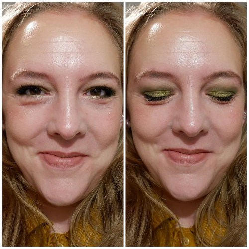 elf bite size eyeshadow palette review swatch fair skin truffles hot jalapeño acai you makeup look application