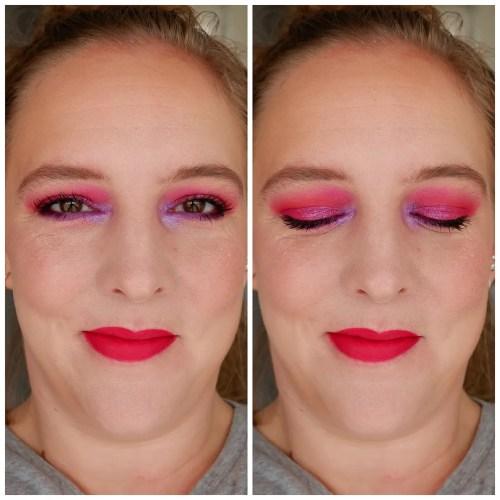 glamlite cake eyeshadow palette review swatch indie makeup look application 3 looks 1 palette fair skin
