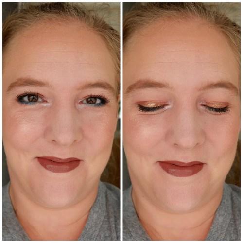 huda beauty mercury retrograde eyeshadow palette review swatch application makeup look fair skin