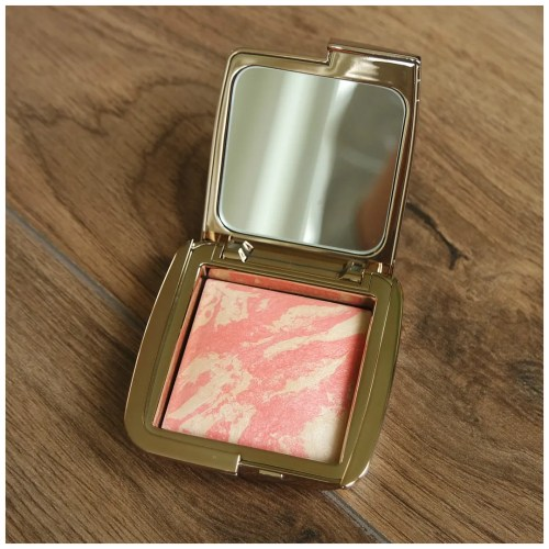 hourglass ambient strobe lighting blush review swatch makeup look incandescent electra