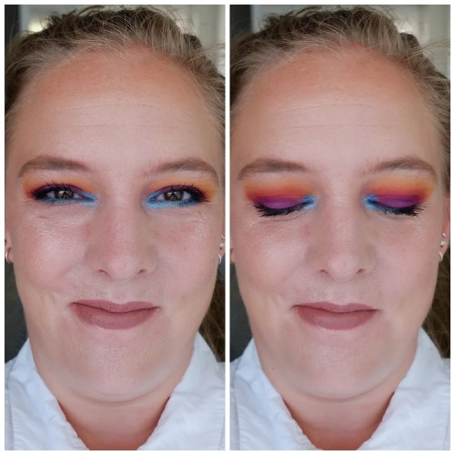 juvia's place the warrior III review swatch eyeshadow palette fair skin makeup look application