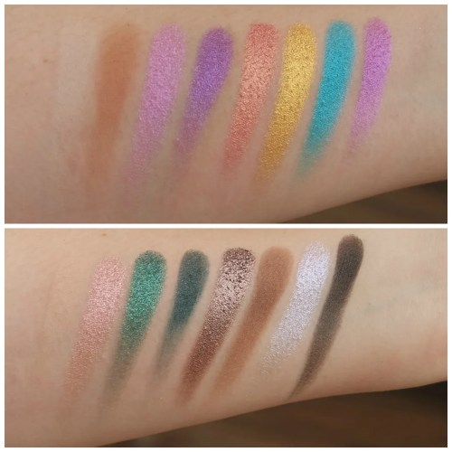la girl haute haute heat eyeshadow palette review swatch makeup look 3 looks 1 palette fair skin