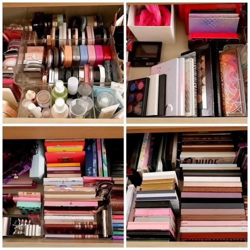 makeup collection organization reorganization