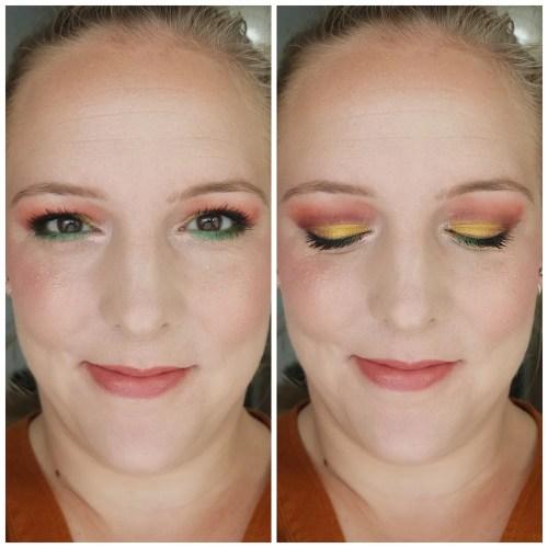 menagerie cosmetics makeup monsters dragon child eyeshadow palette review swatch makeup look application fair skin indie makeup