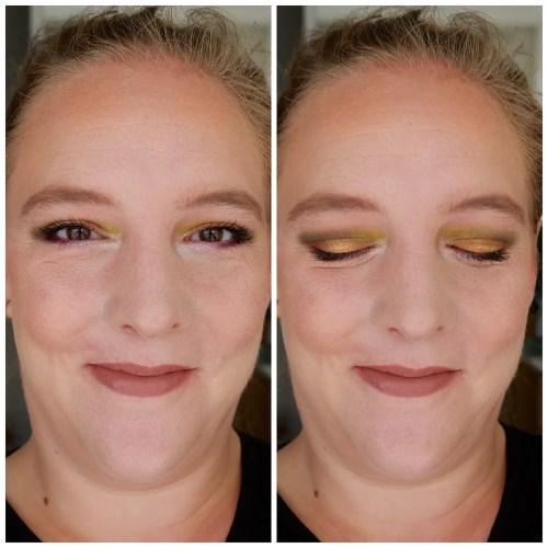 make up revolution I heart makeup eyeshadow palette review mini swatch makeup look turkish delight fair skin drugstore