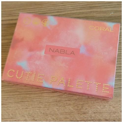 nabla coral cutie eyeshadow palette review swatch makeup look application fair skin