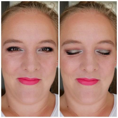 nabla cutie #3 platinum eyeshadow palette review swatch makeup look application fair skin