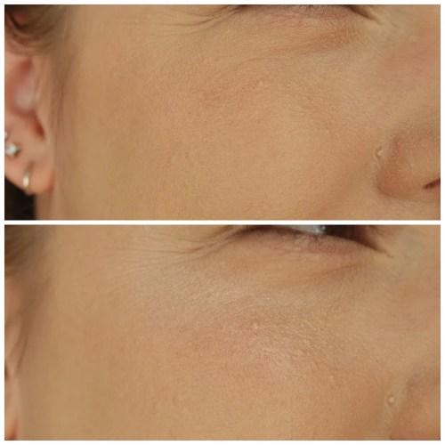 Ofra Pillow Talk highlighter review swatch makeup look application fair skin dry skin texture