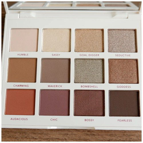 persona cosmetics identity I eyeshadow palette review swatch makeup look application fair skin