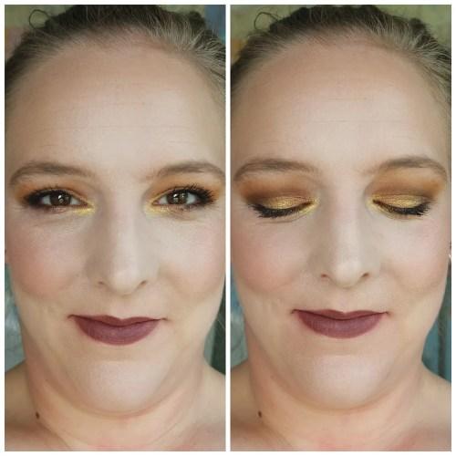urban decay naked honey eyeshadow palette review swatch makeup look 3 looks 1 palette fair skin