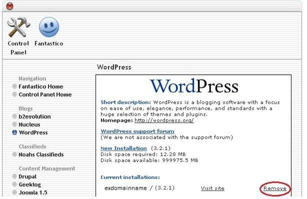 How to Uninstall WordPress From HostGator9