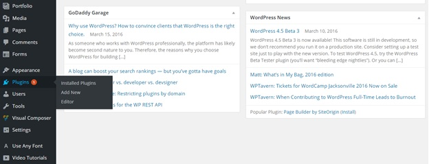Installing or Updating Plugins in WordPress1