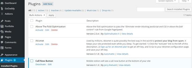Installing or Updating Plugins in WordPress5