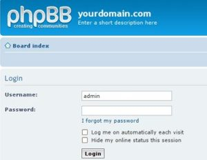 Installing phpBB using Simple Scripts