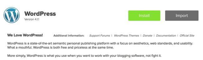 how to Install WordPress with MOJO Marketplace