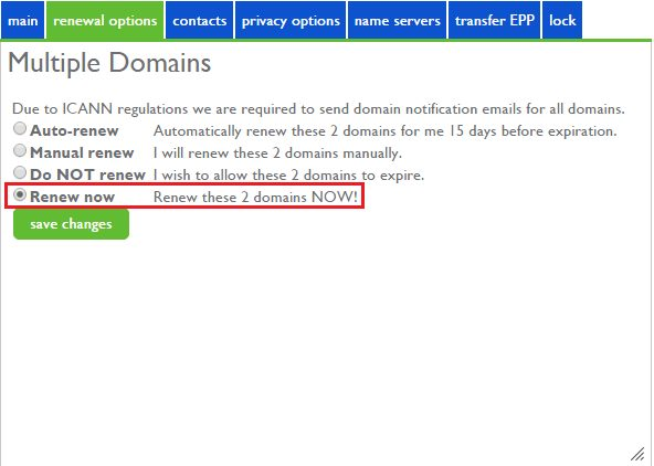 How to renew domain names in Bluehost 3