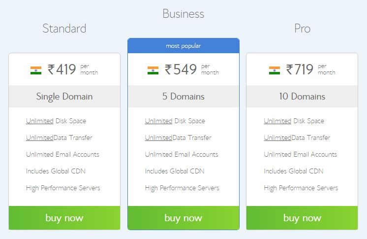 Bluehost India Windows
