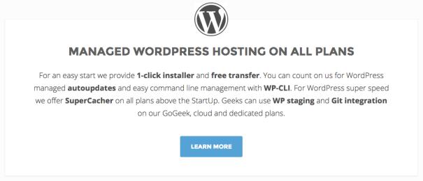 Siteground managed WordPress hosting