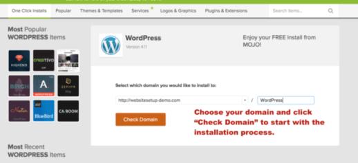 installing WordPress part 2