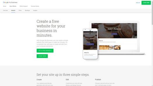 Google Sites Homepage