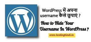 how to hide your username in wordpress in hindi