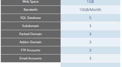 spesifikasi web hosting