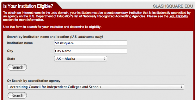 institution eligible