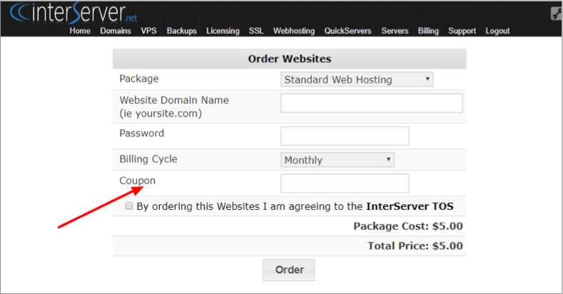 Interserver 1 Cent Coupon Code 2018 – Web Hosting For $0.01! 6