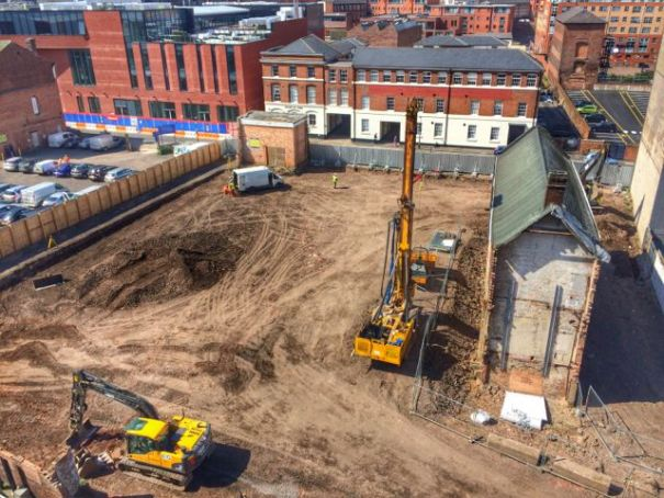 Piling rig on site