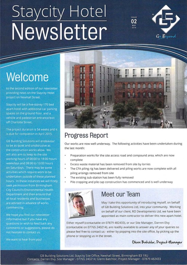 Staycity Newsletter Issue 2 May 2014