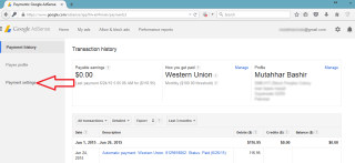 Adsense Withdrawl western union
